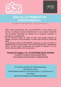 Incontro Parafarmacia Batazzi Valenza 22 maggio Maggio 2018